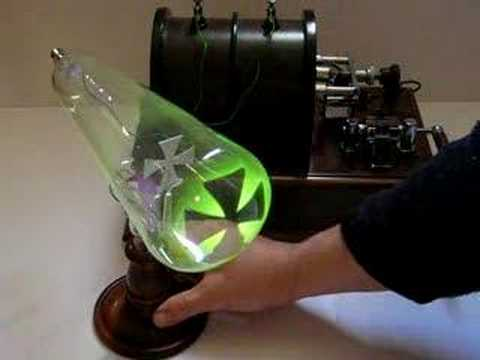 Shadow of the object is formed due to cathode rays travelling in straight lines.