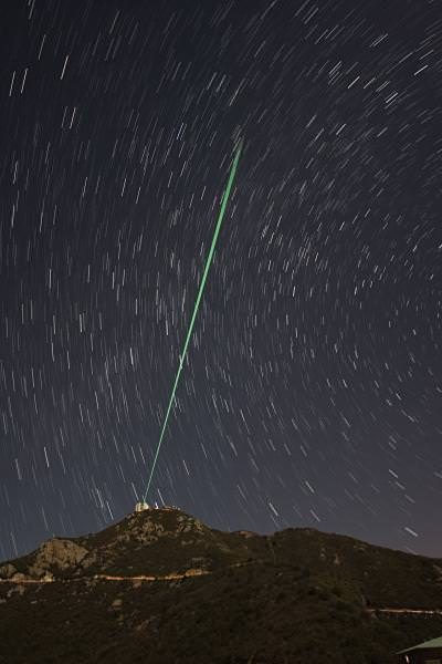Tyndall Effect observed in Long-Range Lasers