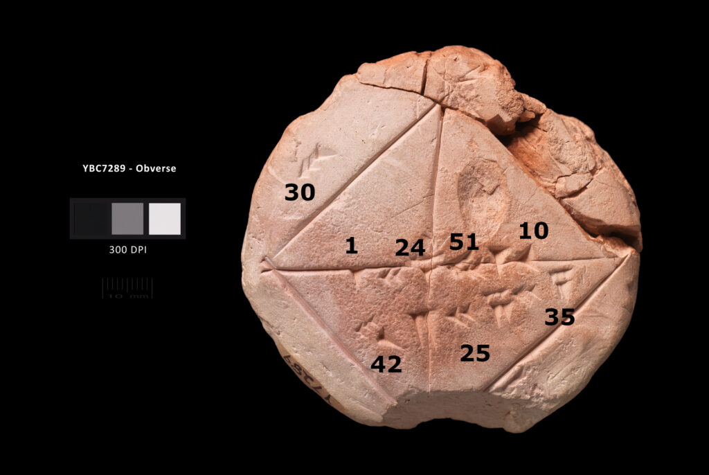Babylonian Clay Tablet YBC 7289 contains Geometric Progression.