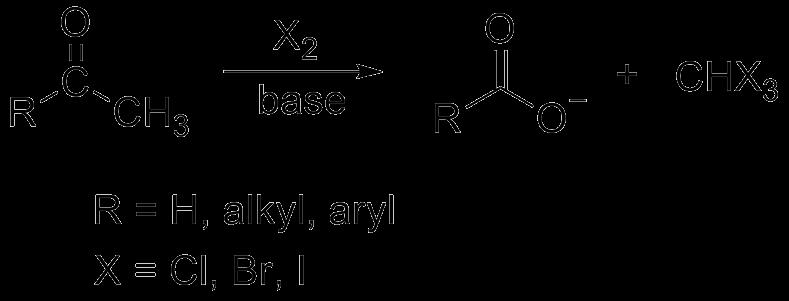 Example of Haloform Reaction