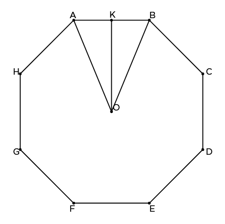 Area of Octagon from the Length of Side and Apothem