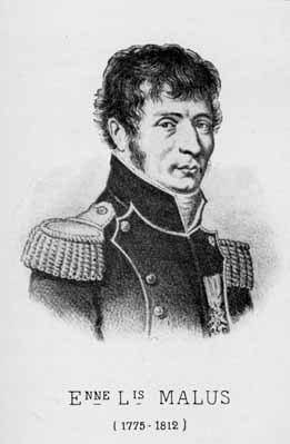 Etienne-Louis Malus given Malus Law.