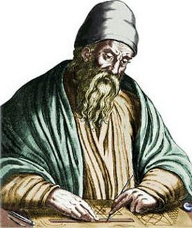 Euclid of Alexandria - developed method to find coprime numbers.