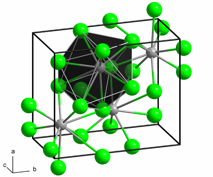 Crystal structure of Barium Iodide (Anhydrous).
