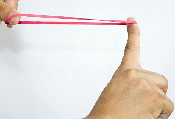 strain energy being stored in rubber band