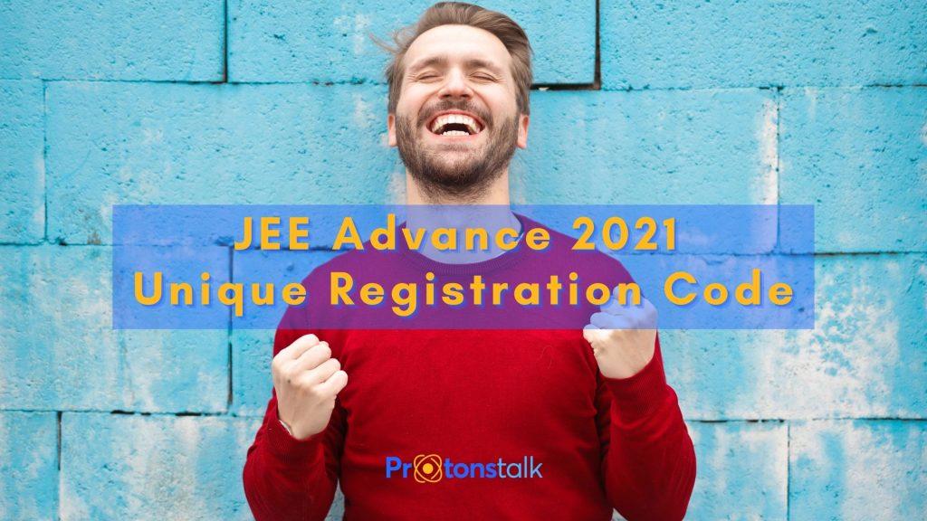 Jee advanced / advance unique registration code link