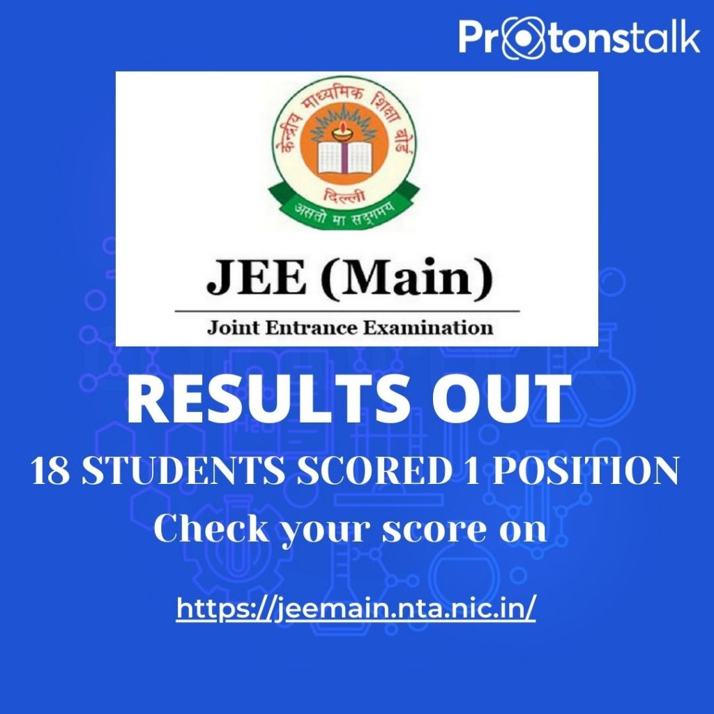 JEE mains exam result out check your results