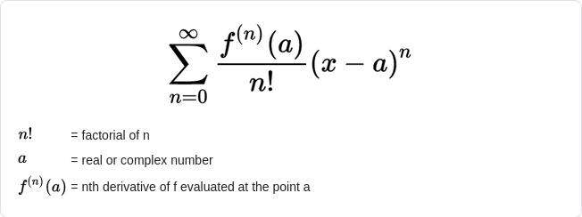 Maclaurin series calculator